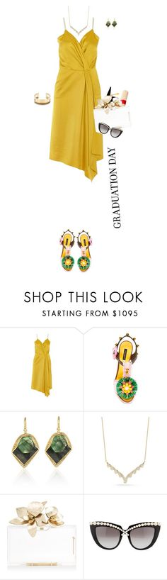 """""""Untitled #1346"""" by k-hearts-a ❤ liked on Polyvore featuring Victoria Beckham, Dolce&Gabbana, Tiffany & Co., Dana Rebecca Designs, Anna-Karin Karlsson and Graduation"""