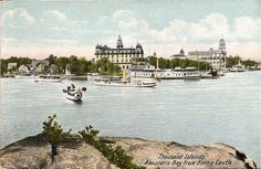 Divided Back Postcard Alexandria Bay from Bonnie Castle Thousand Islands, NY Alexandria Hotel, Thousand Islands, Vintage Travel, Vintage Images, Niagara Falls, Old Photos, Places To See, New York, World