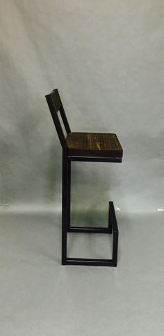 Bar stools Custom 30 with back rest. Metal bar stools.