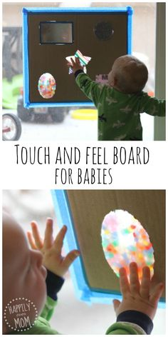 Baby Games DIY touch and feel board