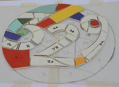 sietecolores: mosaiquismo: número en azulejos