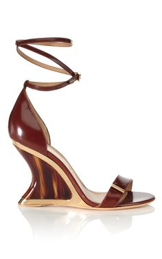 "Salvatore Ferragamo Resort 2013 ""Acero Space Wedge"" in Acero; also in Lava ($750)."