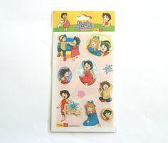 Stickers 3D dessin animé HEIDI modèle n°2 : Stickers, autocollants par boutique-creative-by-c-dona