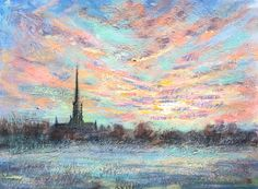 Salisbury Cathedral Dawn Salisbury Cathedral, Abstract Landscape, Old Photos, Dawn, Nest, Painting, Ideas, Old Pictures, Nest Box