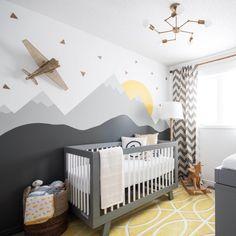 Bilderesultat for airplane theme kids room