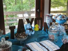 Candy table for Baby Shower