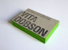 Vita Dobson Business Card | Business Cards | The Design Inspiration