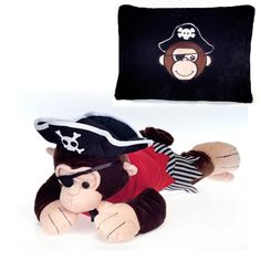 Pirate Monkey Peek-A-Boo Plush Pillow at theBIGzoo.com, a toy store that has shipped over 1.2 million items.