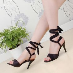 19.99$  Watch now - http://alinlg.shopchina.info/go.php?t=32334295388 - ARMOIRE Summer Hot Sales Women Sandals Red Black Beige Blue Ladies Sexy High Heel Shoes Cross Tied AHS-2 Plus Big Size 31 43 19.99$ #aliexpresschina