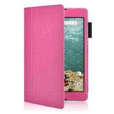 Mesh - HTC Nexus 9 Hoes - Premium Cover Lychee Roze | Shop4Tablethoes.nl