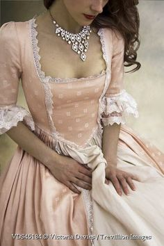 Trevillion Images – historical-woman-with-necklace - Historical Dresses Old Dresses, Pretty Dresses, Vintage Dresses, Vintage Outfits, 1700s Dresses, Victorian Fashion, Vintage Fashion, Victorian Clothing Women, Historical Women