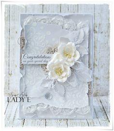 Scrap Art by Lady E: Kartka ślubna / Wedding card Studio75 DT
