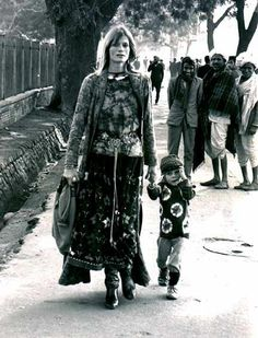 mother and child in marrakesh - early 1970s