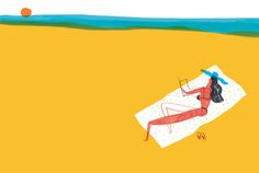 goodbye summer - summer drawing on Behance