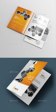 Corporate Bi-Fold Brochure Design Template Vector EPS. Download here: https://graphicriver.net/item/corporate-bifold-brochure/21972271?ref=ksioks