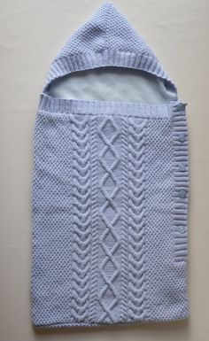 Baby Cocoon Cable Knit Blanket Sleeping Bag Baby by CJsHandknits