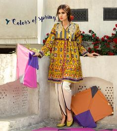 Latest Summer Short Frock Fashion for Girls - Mode Für Alle Kurta Designs, Frock Fashion, Girl Fashion, Fashion Dresses, Pakistani Outfits, Indian Outfits, Stylish Dresses, Casual Dresses, Short Frocks