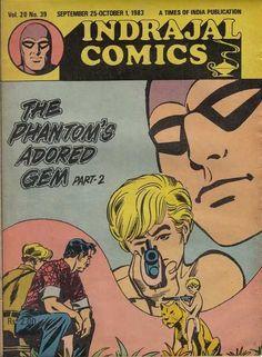Indrajal Comics - The Phantom's Adored Gem Part-II (Issue) Vintage Comic Books, Vintage Comics, Indrajal Comics, Gems, Rhinestones, Jewels, Gemstones, Emerald, Gem