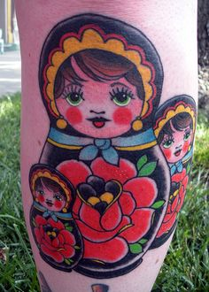 russian dolls tattoo (mommy, lucy and mila)