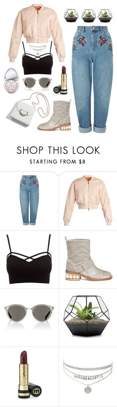 """""""Fresh"""" by lanagur on Polyvore featuring мода, Miss Selfridge, Givenchy, Charlotte Russe, Nicholas Kirkwood, Oliver Peoples, Gucci, Too Faced Cosmetics, Spring и bomberjacket"""