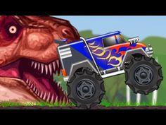 Monster Truck | Monster Truck In Jurassic Land | Dinosaur World - YouTube