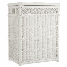 White Wicker Laundry Basket Google Search Baskets