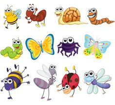 XOO.me :: 12 Funny Little Vector Insects Set