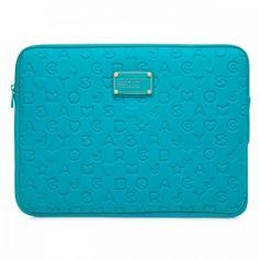 4b77e052605da Marc Jacobs Funda Laptop 13 Pulgadas Aqua Relieve Neopreno -   1
