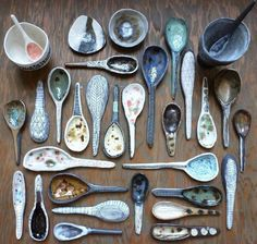 Pottery spoons
