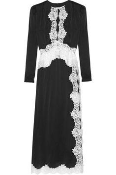 Alessandra Rich   Lace-trimmed satin gown   NET-A-PORTER.COM