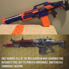 Red Death exotic gun Destiny Cosplay, Jedi Cosplay, Cosplay Weapons, Male Cosplay, Arma Steampunk, Steampunk Weapons, Nerf Snipers, Modified Nerf Guns, Pistola Nerf