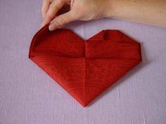 Brud & Bröllop - Servettbrytningar - Hjärtat