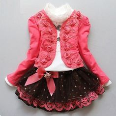 Good price 2017 New Summer Kids Girls Clothing Set Long Sleeve Blouse + Dress Cotton Baby Girls Suits Set Fashion Children Girl Clothes just only $21.89 - 22.42 with free shipping worldwide  #girlsclothing Plese click on picture to see our special price for you
