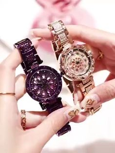Luxury Rotate Crystal Watches – Watch for everyone Cool Watches For Women, Cute Watches, Stylish Watches, Luxury Watches, Cheap Watches, Ladies Gold Watches, Unique Watches, Rose Gold Watches, Expensive Watches