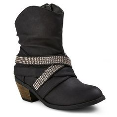 Girls' #FASHIONISTA Ankle Boots - Black-Stevie's from Target (approximately 1.25 inch heel)