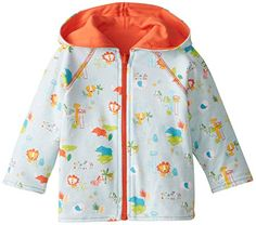 Zutano Unisex Baby Juba Reversible Zip Hoodie Sky 18 Months -- Want additional info? Click on the image.