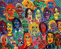 James Rizzi - Portraits  I love this multicultural portrait by James Rizzi. It's whimsical in a sense.