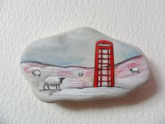 Sheep in the snow  Acrylic miniature by ShePaintsSmallThings, $19.00