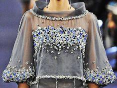60 Trendy Ideas for embroidery blouse haute couture Fashion 2020, Runway Fashion, Womens Fashion, Fashion Spring, Couture Embroidery, Fashion Details, Fashion Design, Chanel Spring, Couture Fashion