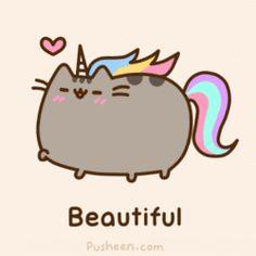 Pusheen the cat is awesome unicorn and it is so cute! Gato Pusheen, Pusheen Love, Pusheen Plush, Chat Kawaii, Kawaii Cat, Kawaii Drawings, Cute Drawings, Crazy Cat Lady, Crazy Cats