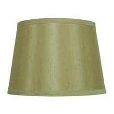 allen + roth 7-in x 10-in Silken Toast Fabric Drum Lamp Shade