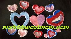 Salt dough thumbprint hearts. Valentine's Day craft for kids.