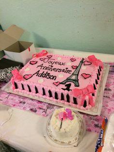Paristhemed Sweet 16 Birthday Cake Custom Cakes Pinterest