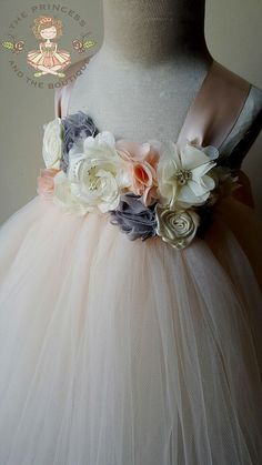 25ed5f633b0 Blush flower girl dress with a mixture of blush