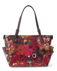 I bought this today in this scarlet red and loveit!!!! d.a.---Sakroots Artist Circle Top Zip Satchel - Scarlet Flow