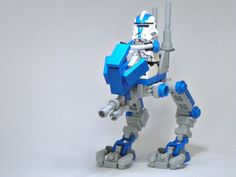 really cool AT-RT Lego that should have been made legit! Awesome Lego, Cool Lego, At Rt, Lego Clones, Brick Art, Star Wars Vehicles, Star Wars Images, Lego Mechs, Lego Instructions