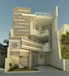 In this case, we wondered which are the most beautiful modern homes that are built. Unique House Design, House Front Design, Minimalist House Design, Style At Home, Bungalow Haus Design, Casa Retro, Beautiful Modern Homes, Luxury Homes Dream Houses, House Elevation