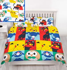 Pokémon fans will love this fun Pokemon Kids Duvet Single Cover Set. The duvet cover features great images of Pikachu, Rowlet, Litten and Popplio. Baby Bedding Sets, Duvet Bedding, Duvet Sets, Double Duvet Covers, Single Duvet Cover, Pillow Covers, Duvet Cover Sizes, Quilt Cover Sets, Pokemon Room