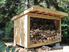 rough cut lumber horse shed | The Ultimate Firewood Holder