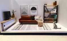 Modern miniatures dollhouse DIY more photos Instagram @onebrownbear